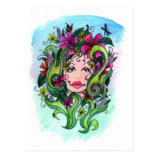The Flower Maiden Postcard