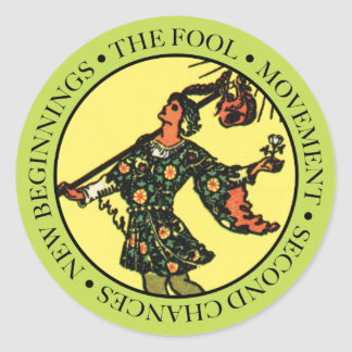 The Fool Sticker with Text