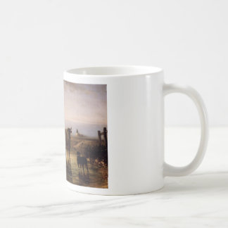 The Ford by Constant Troyon Basic White Mug