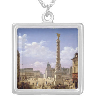 The Fountain in the Place du Chatelet Silver Plated Necklace