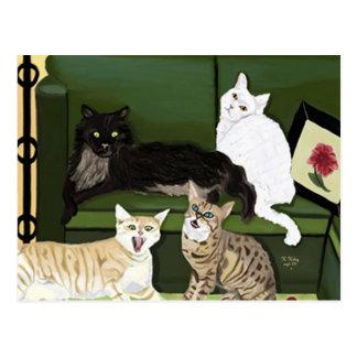 The Four Little Mountain Lions postcard