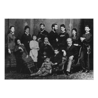 The Freud Family, c.1876 Poster