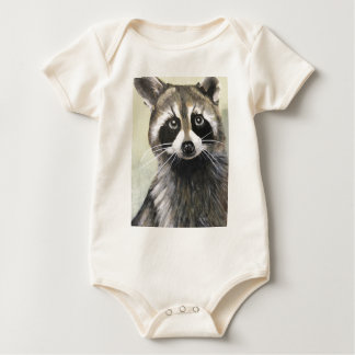The Friendly Raccoon Baby Bodysuit