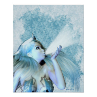 The Frost Maiden, Fantasy Female Figure Poster