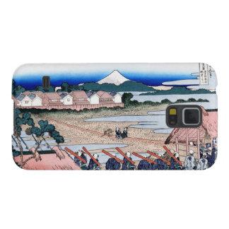 The Fuji seen from gay quarter in Senju Hokusai Galaxy S5 Cases