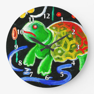 The Funky Turtle Large Clock