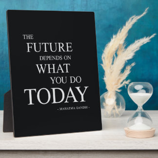 The Future Inspirational Motivational Quote Plaque