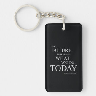 The Future Inspiring Motivational Quote Key Ring