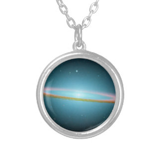 The Galaxy Round Pendant Necklace