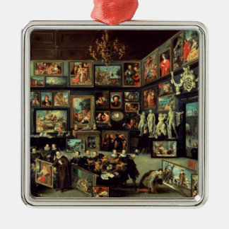 The Gallery of Cornelis van der Geest Silver-Colored Square Decoration