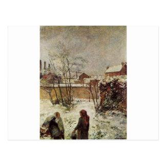 The garden in winter, rue Carcel by Paul Gauguin Postcard