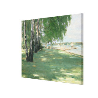 The Garden of the Artist in Wannsee, 1918 Canvas Print