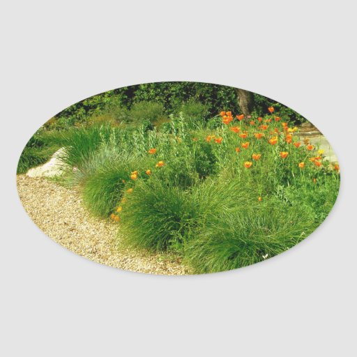 The Garden Path Oval Sticker