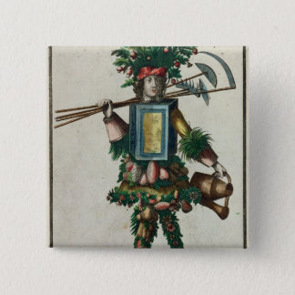 The Gardener's Costume 15 Cm Square Badge