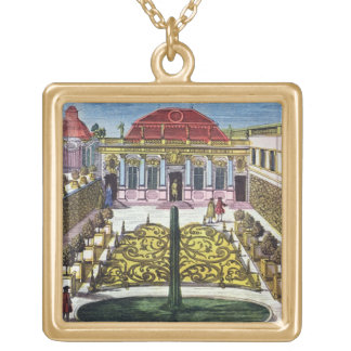 The Gardens of the Mirabelle Park, Salzburg, Austr Gold Plated Necklace