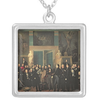 The Gathering of the Poets, 1846 Silver Plated Necklace