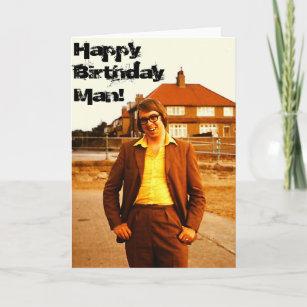 The Geek - Retro 1970's English Man Birthday Card