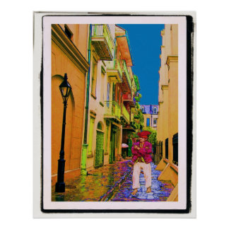 The Ghost In Pirates Alley Print