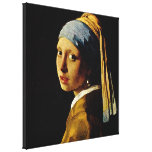 The Girl with a Turban/Girl with the Pearl Earring Stretched Canvas Prints