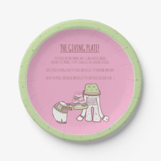 The Giving Plate Illustrated 7 Inch Paper Plate