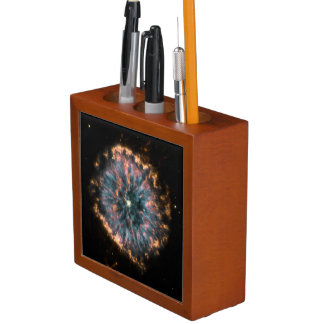 THE GLOWING EYE (an outer space design) ~ Pencil/Pen Holder