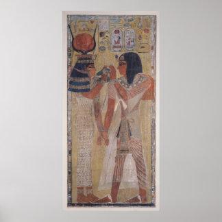 The Goddess Hathor placing the magic collar Poster