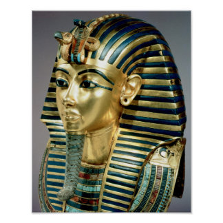 The gold funerary mask, from tomb of Tutankhamun Poster