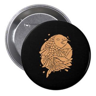 The Gold Koi Fish 7.5 Cm Round Badge