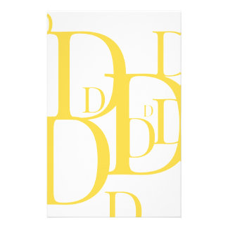 The Golden D Stationery Paper