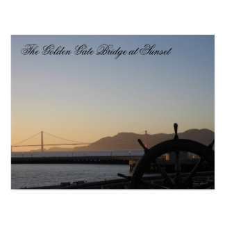 The Golden Gate Bridge at Sunset Postcard