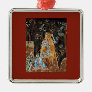 The Golden Hair Ornament - Premium Square