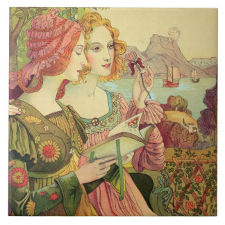 The Golden Legend, 1897, from 'L'Estampe Moderne', Tile