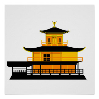 The Golden Temple, Kyoto, Japan Poster