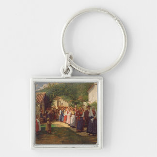 The Golden Wedding (oil on canvas) Key Ring