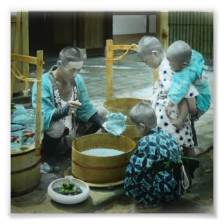 The Goldfish Merchant of Old Japan Vintage Photo