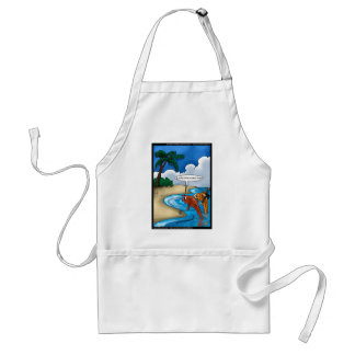 The Golfing Fish Funny Tees Cards & Other Gifts Adult Apron