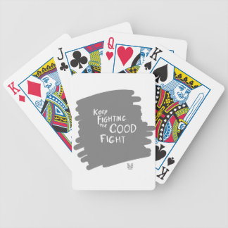 The Good fight Bicycle Playing Cards