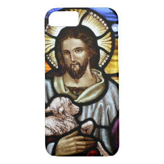 The Good Shepherd; Jesus on stained glass iPhone 7 Case