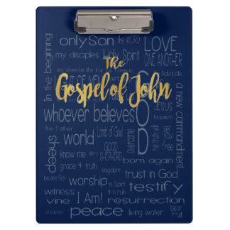 The Gospel of John, Navy Blue Clipboards