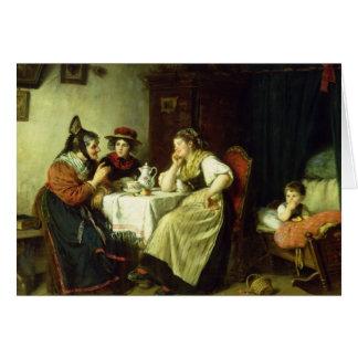 The Gossips, 1887 Card