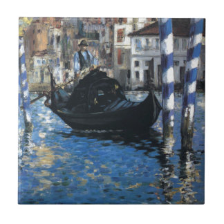 The grand canal of Venice by Edouard Manet Tile