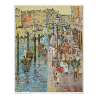 The Grand Canal, Venice, 1889-99 Poster
