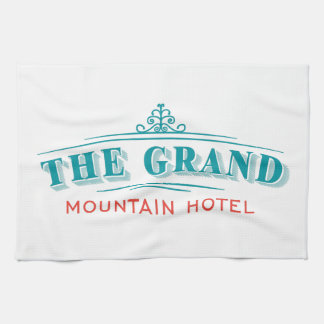 """""""The Grand Mountain Hotel"""" Kitchen Towel"""