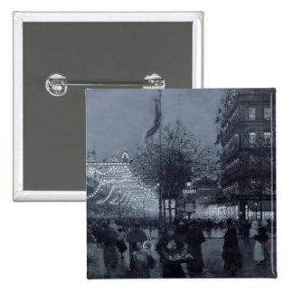 The Grands Boulevards, Paris 15 Cm Square Badge