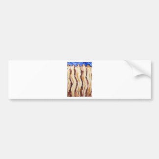 The Great Greek Philosophers(abstract  painting) Bumper Sticker