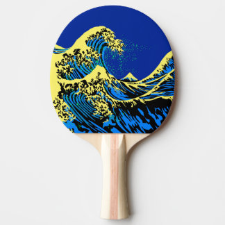The Great Hokusai Wave in Blue Pop Art Style
