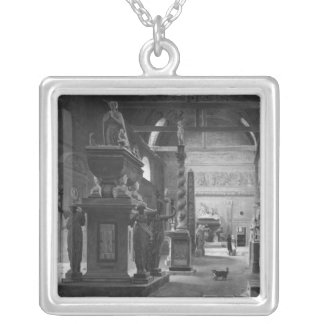 The great room of the Musee des Monuments Silver Plated Necklace