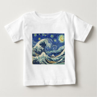The Great Wave Off Kanagawa - The Starry Night Baby T-Shirt