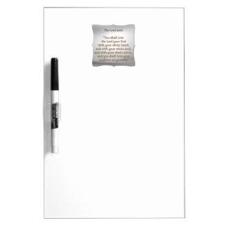 The Greatest Commandment Dry Erase Board