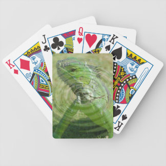 The Green Iguana Bicycle Playing Cards